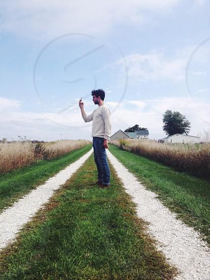 men's white long sleeved shirt photo