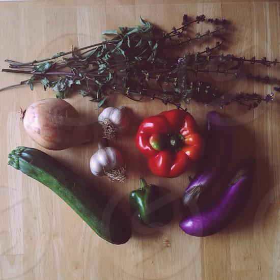 purple eggplant photo