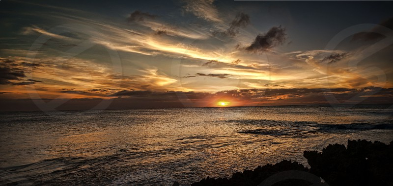 Ocean Sunset North Shore Hawaii photo