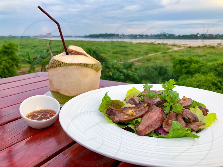 food snack eat eating edible recipe cuisine culinary tasty delicious yummy dish plate breakfast lunch dinner meal diet dining dessert culture cooking cook local meat pork chicken sauce seasoning spicy sweet sour Thai Chinese Japanese exotic stewed beef coconut  photo