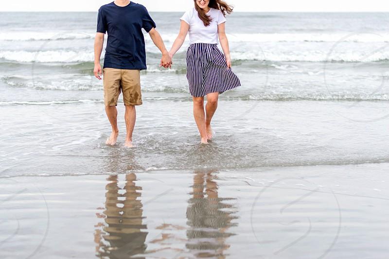 Young couple engagement session lifestyle - Myrtle Beach South Carolina photo