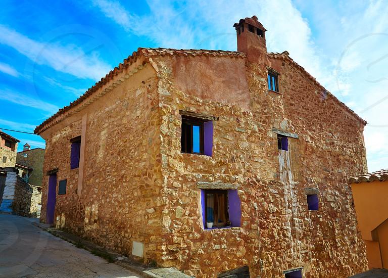 Sierra de Albarracin in Moscardon Teruel Spain photo