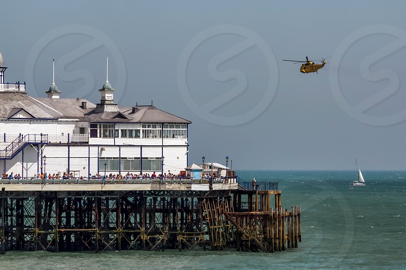Sea King HAR3 Helicopter Display at Airbourne photo