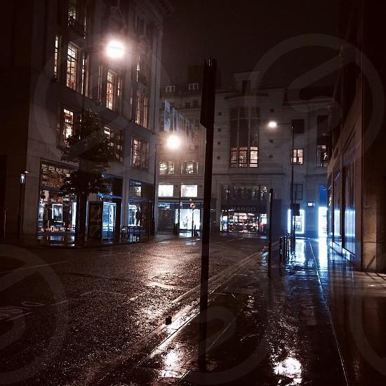 Rainy London. 5am. photo