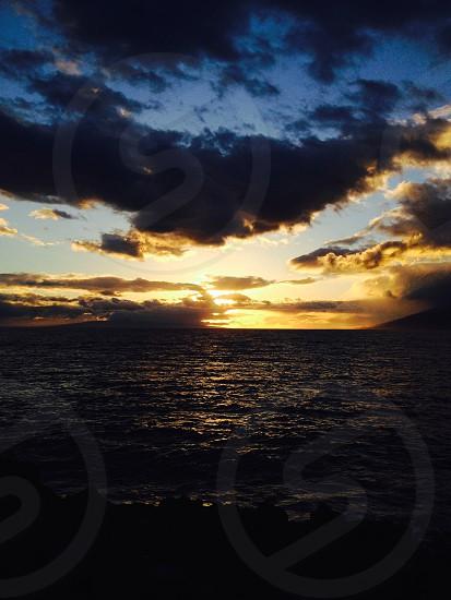 Sunset on Maui. Unedited photo