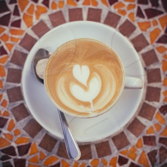 Latte Art Cappuccino photo