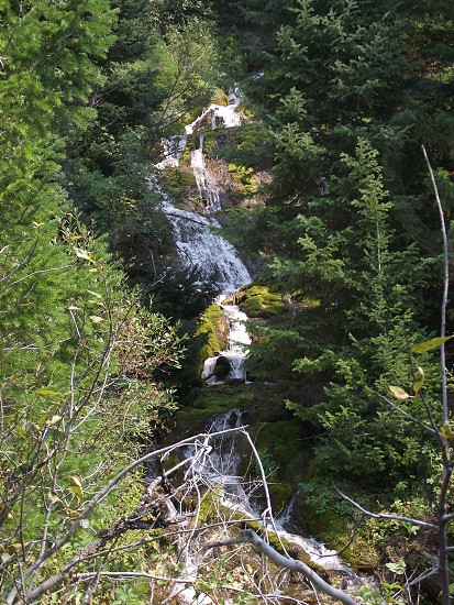 High Creek Canyon waterfall photo