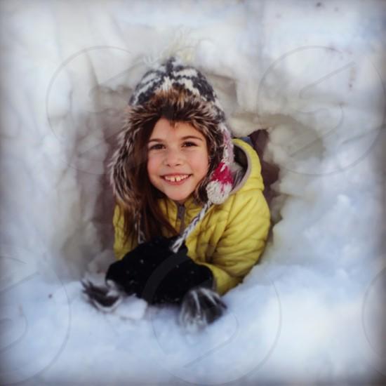 Snow-gloo photo