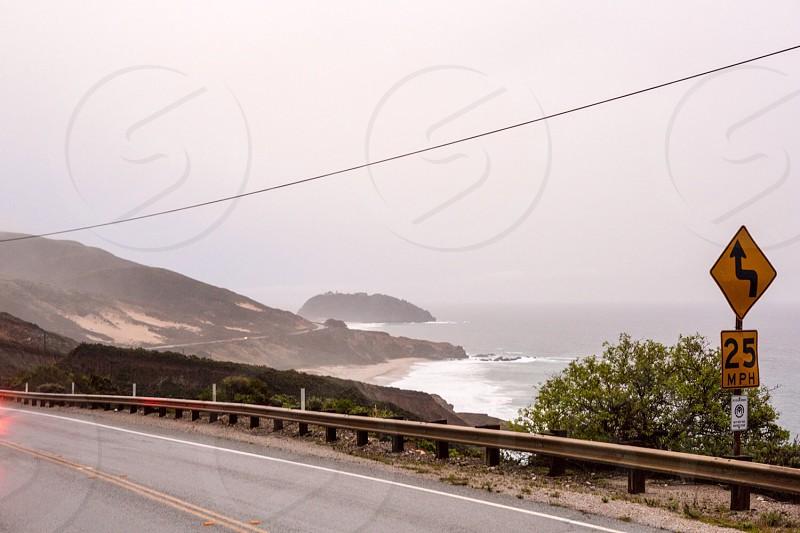 road near beach photo
