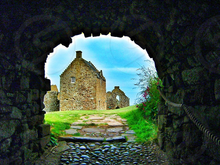 Green path archway castle architecture  photo