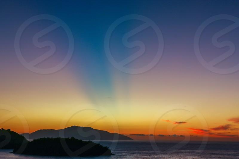 sunrise in brasilian beach photo