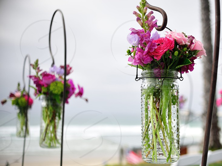 Wedding Flower Vase photo
