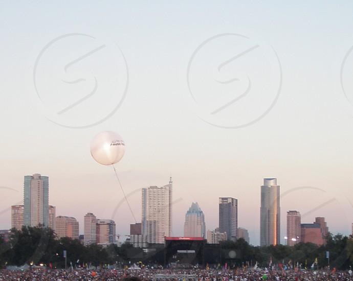 Austin Texas skyline from Austin City Limits Festival grounds photo