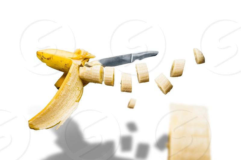 yellow sliced banana food photography photo