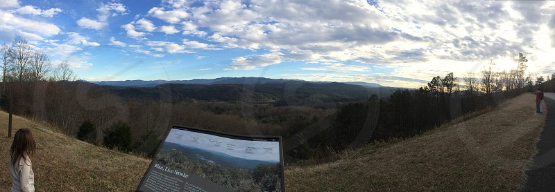 Great Smoky Mountains from the Foothills Parkway in Blount County Tennessee.  photo