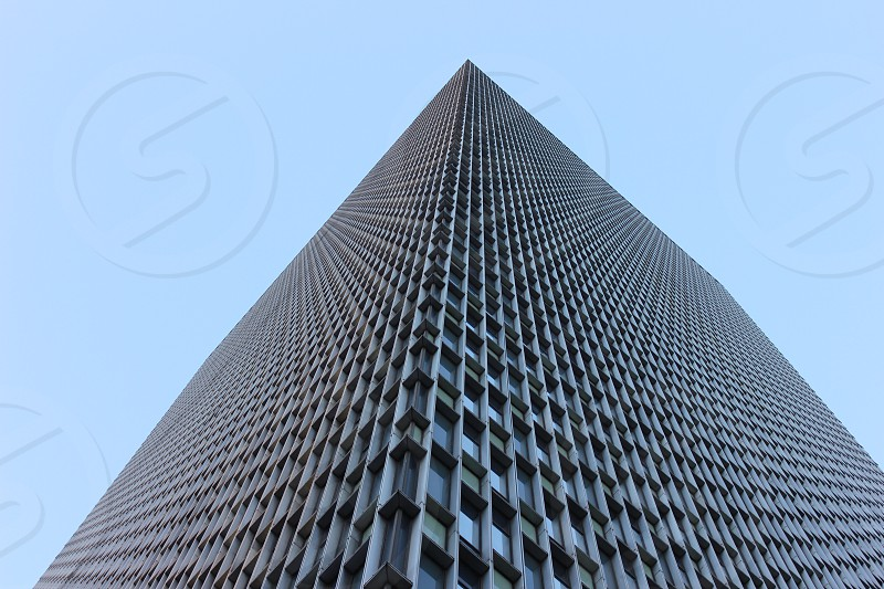 lower angle view of a high rise building photo