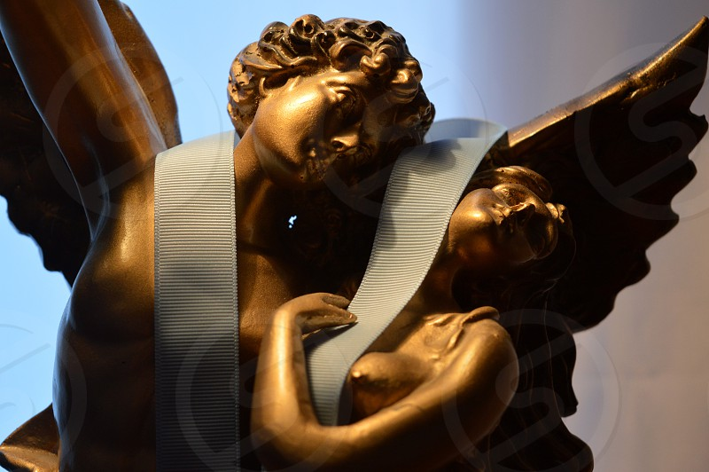 Monument of love at home. Foreshortening colors and shapes photo