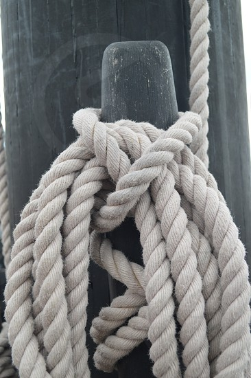 Ropes and lines nautical knot photo