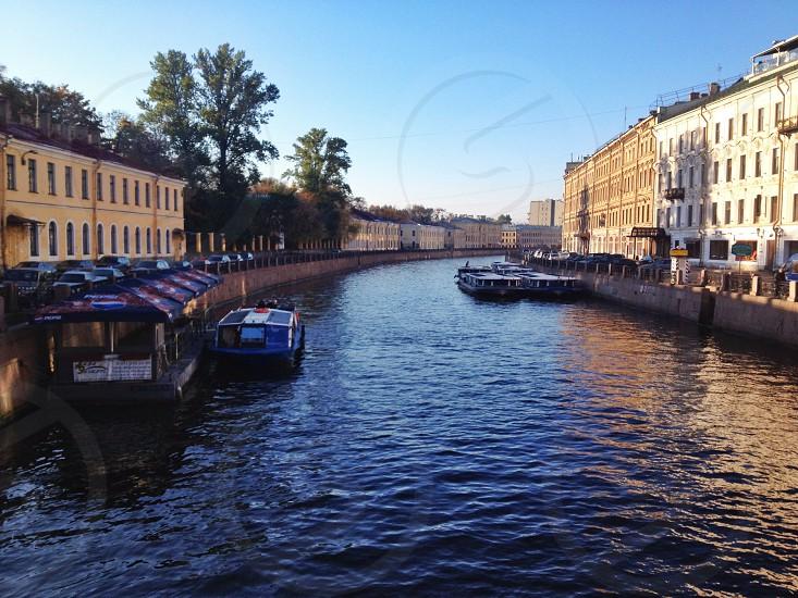 Saints Petersburg river street Fontanka river  photo