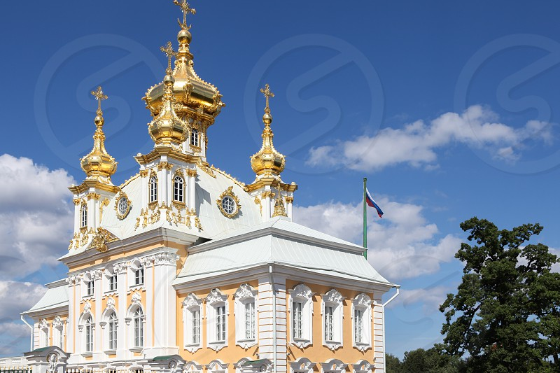 Peterhof Palace in St. Petersburg Russia photo