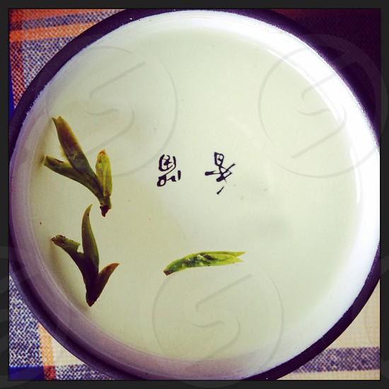 #2 Green tea. Minimalism. photo