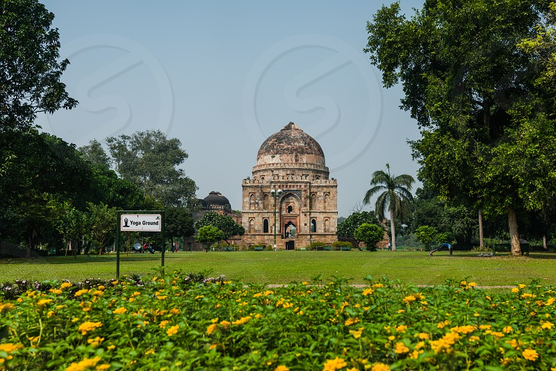 Lodi Gardens or Lodhi Gardens is a city park situated in New Delhi India. Spread over 90 acres it contains Mohammed Shah's Tomb Tomb of Sikandar Lodi Shisha Gumbad and Bara Gumba photo