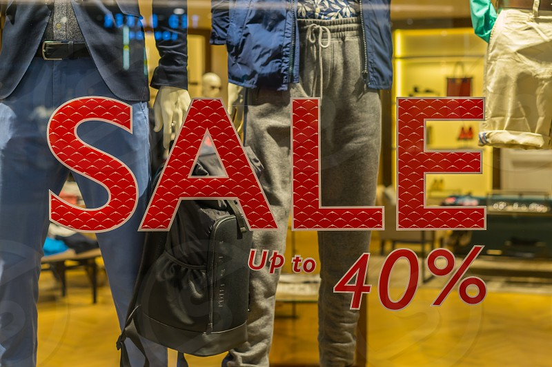 Sale time with 40% off. photo