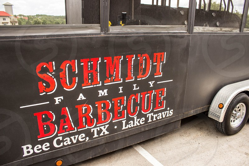 black schmidt family barbecue bee cave tx lake travis bus photo