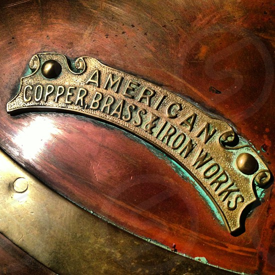 american copper brass and iron works tag photo