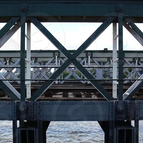Details of a Bridge metal construction photo