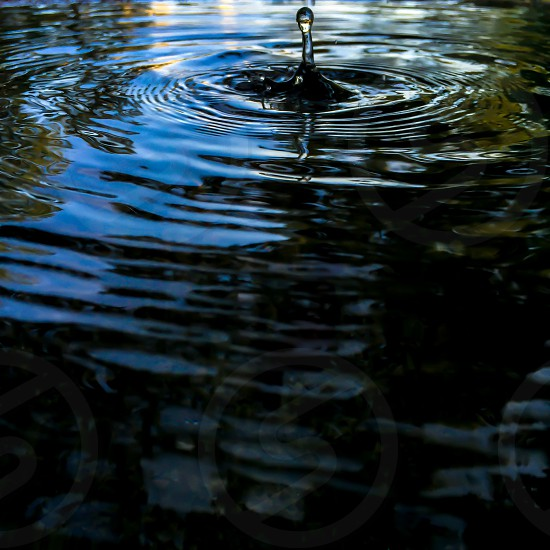 water ripples in closeup photo