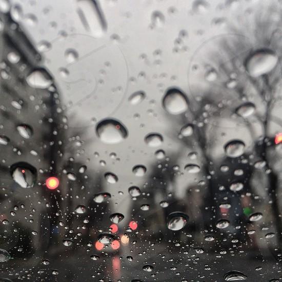 water drops in window photo