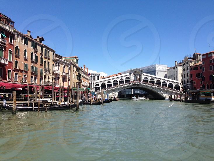 Venice scene Rialto bridge photo