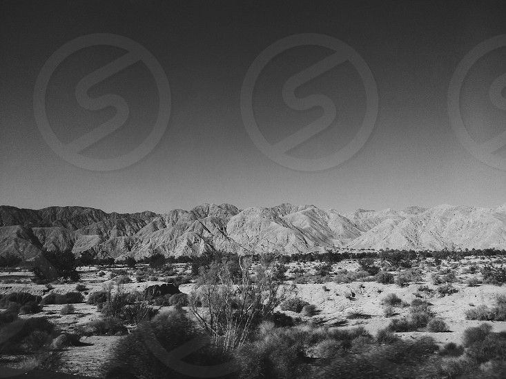 open travel explore adventure mexico desert mountains mono black and white wide photo