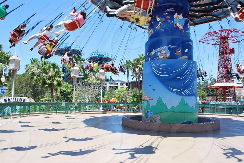 Disneyland swings photo