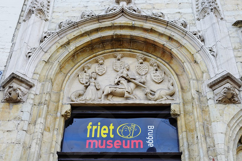 The FrietMuseum French Fry museum in Bruges Belgium photo