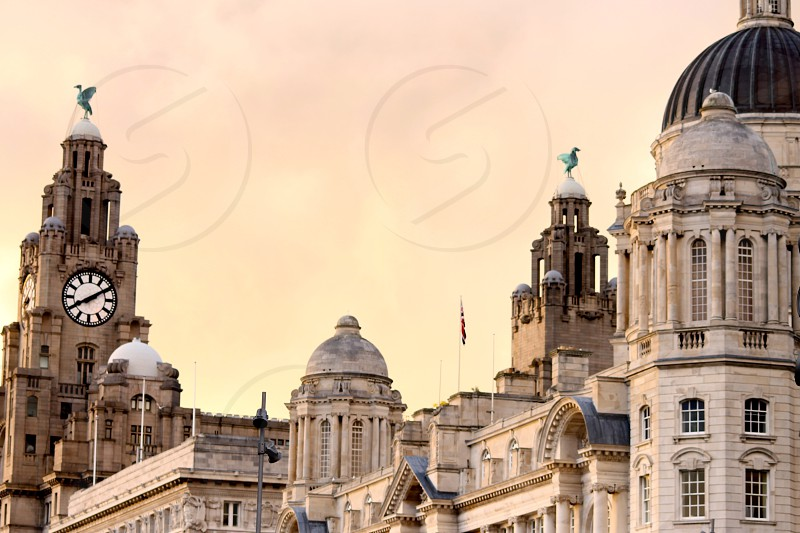 Storm brewing over the Liver Birds Liverpool photo