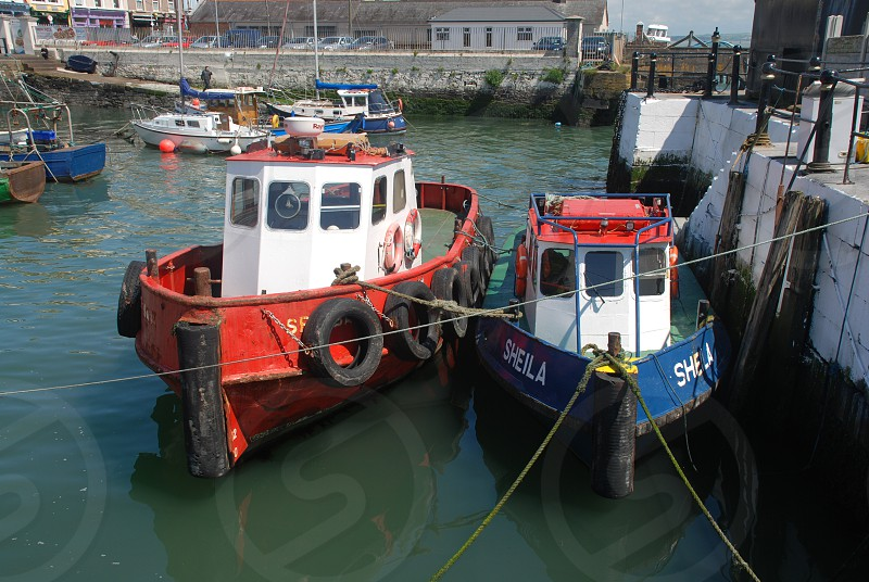 Fishing Boats Cobh Harbor Ireland (2) photo