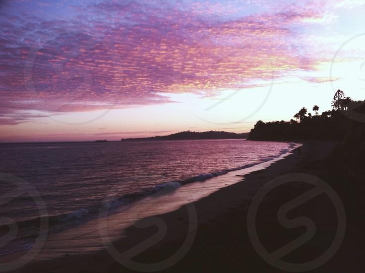 Purple sky sunset photo
