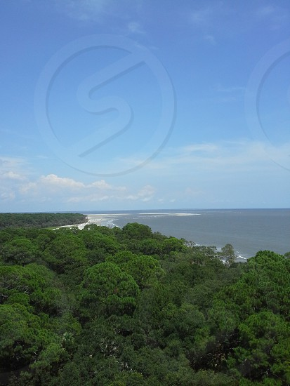View of Hunting Island from atop Hunting Island Lighthouse - Hunting Island SC photo