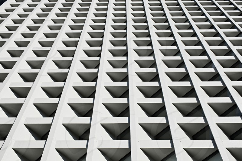 Architectural details of a modern building.  photo