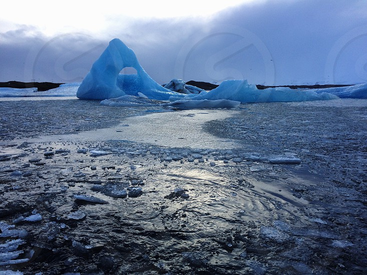 Ice Glaciers in Iceland Nature the Environment.  photo