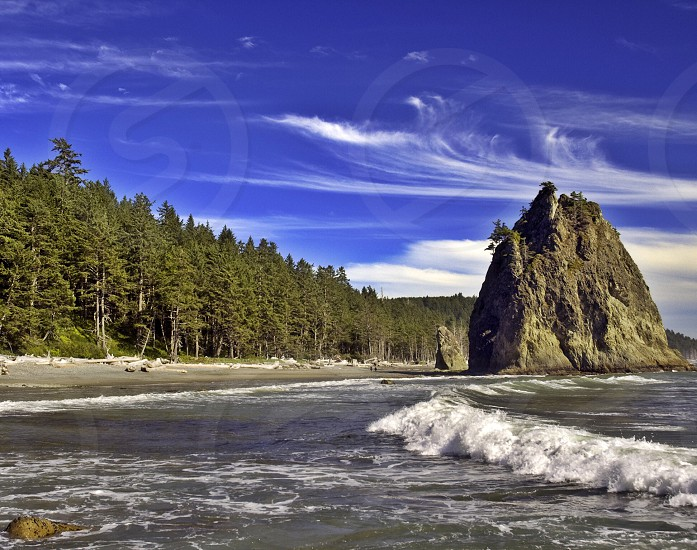 Rialto Beach Sea Stack Olympic National Park WA photo