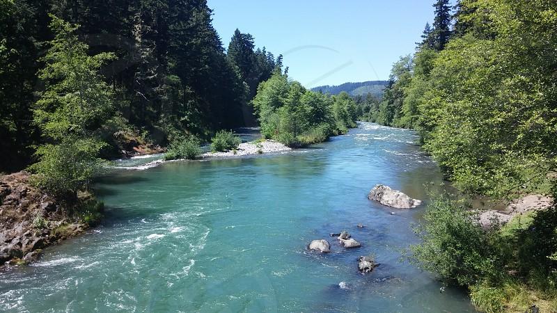 River in Oregon photo