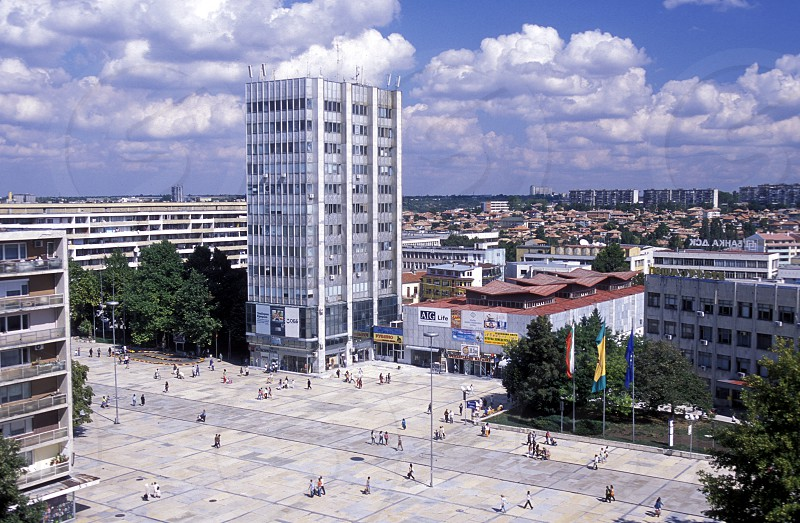 the city centre of the town of Dobrich in the east of in Bulgaria in east Europe. photo