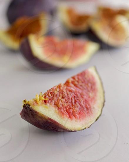 Still studio figs fruit macro closeup sweet desert fresh photo