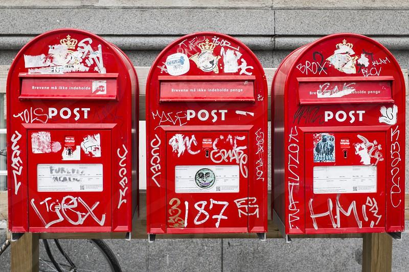 urban post boxes photo