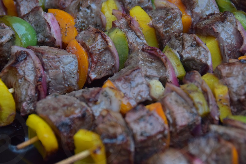 Street food Shish Kebabs photo