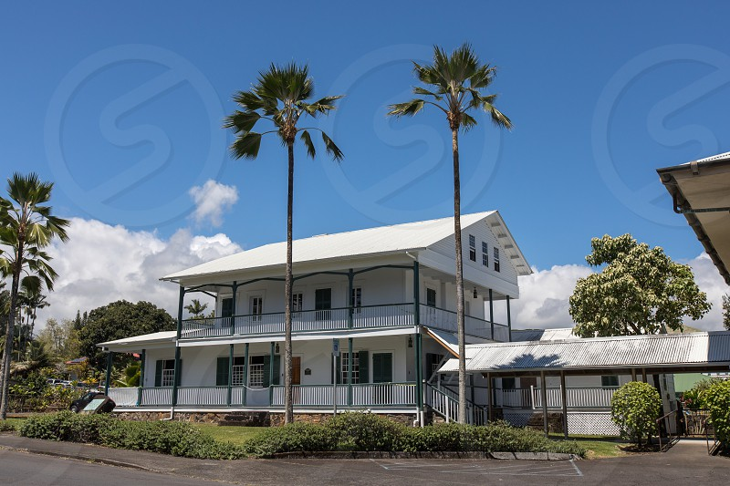 The exterior of the Lyman House Memorial Museum in Hilo Hawaii photo