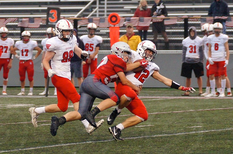 Football Friday night hit action touchdown  photo